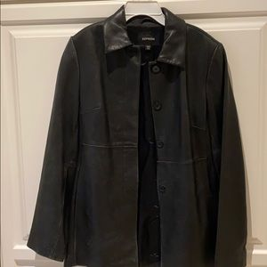 Express 100% genuine leather coat